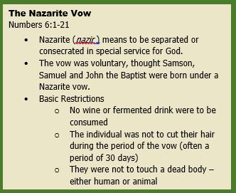 Nazarite Vow